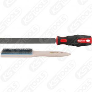 KS Tools, PLATT FIL MED FILBORSTE, 2 DELAR