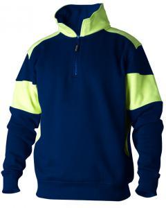 Sweatshirt Zip 222 marin/gul