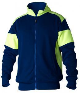 Sweatshirt helzip 223 marin/gul