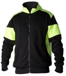 Sweatshirt helzip 223 svart/gul