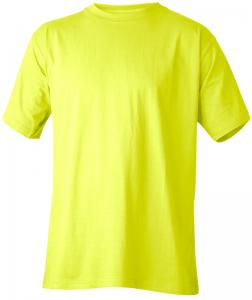 T-Shirt bomull varselgul