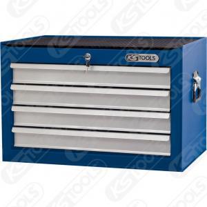 BASICline verkstadsvagnöverdel, 4 lådor, blå/silver