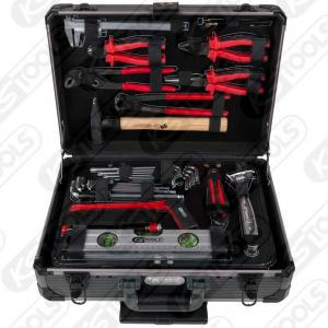 """KS Tools, 1/4"""" + 1/2"""" UNIVERSAL-VERKTYGSSATS, 130-DELARS"""