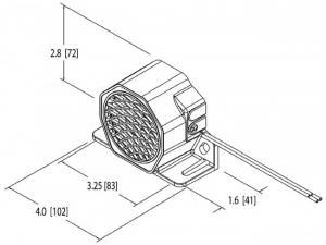 Backningsvarnare 12-24V 97 dB