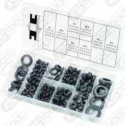 Sortiment gummi-genomgångspip, 110-delars