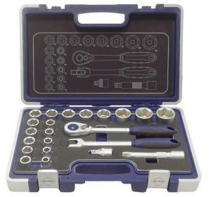 BATO Hylsnyckelsatser 1/2 6kt. EVA 10-32mm 23 delar.