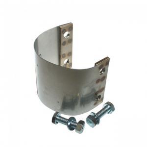 Bandklammer för  60 mm avgasslang inkl. 2 bult,mutter,bricka