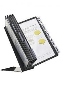 Durable Bordställ A4 med 10 ramar svart