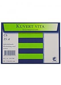 BONG Kuvert konsument fp C6 Vit P/S 25/fp (fp om 25 st)