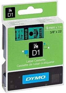 Dymo Tape D1 9mm svart på grön