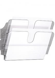 Durable Blankettfack FlexiPlus A4L 2-fack transp