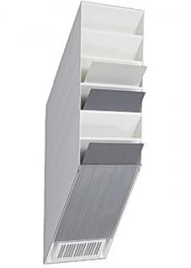 Durable Blankettfack Flexiboxx A4S 6-fack vit