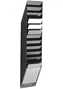 ATLANTA Blankettfack Flexiboxx A4S 12-fack svart