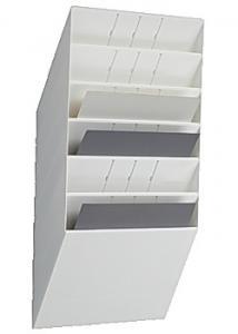Durable Blankettfack Flexiboxx A4L 6-fack vit