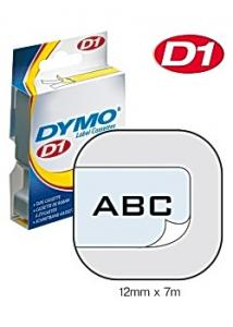 Dymo Tape D1 9mm svart på blå