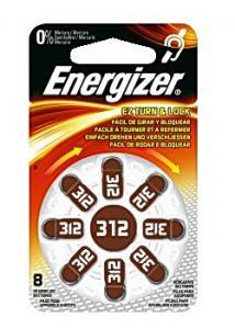Energizer Batteri hörsel 312 brun (fp om 8 st)