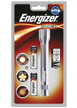 Energizer Ficklampa Metall LED 2 AA