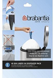 BRABANTIA Avfallspåsar E, dispenser 19/20L (fp om 40 st)