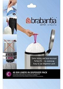 BRABANTIA Avfallspåsar C, dispenser 10/12L (fp om 40 st)
