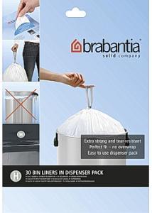 BRABANTIA Avfallspåsar H, dispenser 50/60L (fp om 30 st)