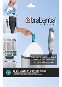 BRABANTIA Avfallspåsar F, dispenser 20L (rulle om 40 påsar)