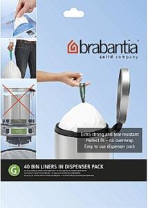 BRABANTIA Avfallspåsar G, dispenser 23/30L (fp om 40 st)