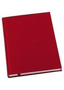 Antbok GRIEG Design inb A5 100g linj röd