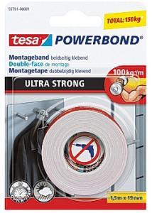 tesa® monteringstape ULTRA STRONG 1,5mx19 (rulle om 1.5 m)