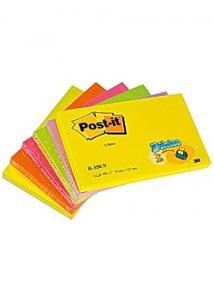 Post-it® Notes Z-block 76x127mm neon (fp om 6 st)