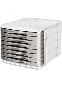 Cep Blankettbox 8 lådor grå