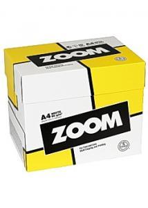 Kopieringspapper Zoom. A4 80g. Hålat. 2500 ark/förp.