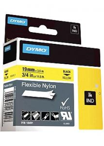 Dymo Tape Rhino nylon 19mm Svart/Gul