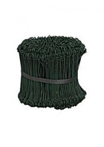 ABENA Säcktråd plastad grön 15 cm lång (fp om 1000 st)