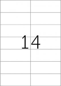 Etikett 105x42,3 (fp om 1400 st)