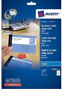 Avery Visitkort matt 260g, 85x54mm (fp om 80 st)