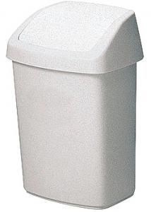 Rubbermaid Commercial Products Papperskorg med vipplock 10L vit
