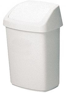 Rubbermaid Commercial Products Papperskorg med vipplock 25L vit