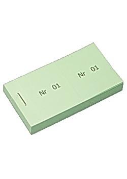 Biljettblock 1-100 grön (fp om 100 st)