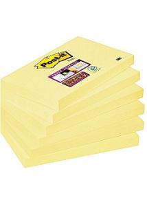 Post-it® Notes SuperSticky gul76x127 (fp om 6 x 90 blad)