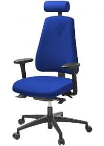 LANAB DESIGN Kontorsstol LD6340 blå m svankstöd