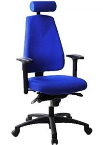 LANAB DESIGN Kontorsstol LD6340Deluxe blå m svankstöd