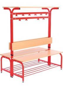 Kläd och skolhylla REDA röd h 141-179cm