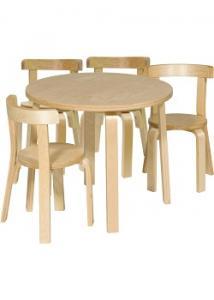 Lekvråmöbelset björk 1 bord 4 stolar (set om 5 st)