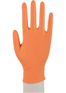 ABENA Handske nitril puderfri orange L (fp om 100 st)