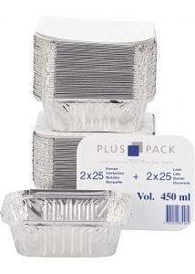 Aluminiumform inkl. lock 450ml (fp om 50 st)