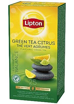 Lipton Te påse Green Tea Citrus (fp om 25 påsar)