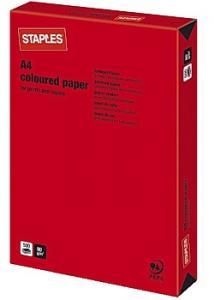 Kop.ppr A4 80g Röd (bunt om 500 blad)