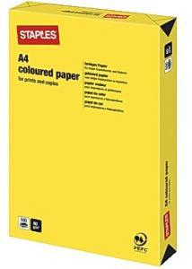 Kop.ppr A4 80g Gul (bunt om 500 blad)