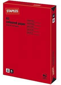 Kop.ppr A3 80g Röd (bunt om 500 blad)