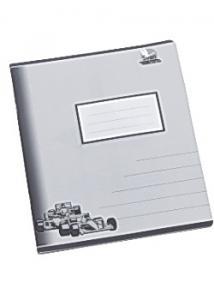 Skrivh. 17x21cm ½ sida linj 14,5mm grå